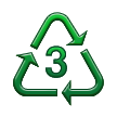 Recycling Symbol for Type-3 Plastics on Samsung TouchWiz Nature UX 2