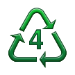 Recycling Symbol for Type-4 Plastics on Samsung TouchWiz Nature UX 2