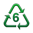 Recycling Symbol for Type-6 Plastics on Samsung TouchWiz Nature UX 2
