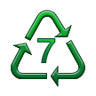 Recycling Symbol for Type-7 Plastics on Samsung TouchWiz Nature UX 2