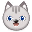 Grinning Cat Face on Samsung TouchWiz Nature UX 2