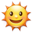 Sun with Face on Samsung TouchWiz Nature UX 2