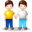 Two Men Holding Hands on Samsung TouchWiz Nature UX 2
