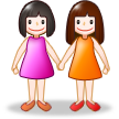 Women Holding Hands on Samsung TouchWiz Nature UX 2