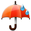 Umbrella with Rain Drops on Samsung TouchWiz Nature UX 2