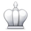 White Chess King on Samsung TouchWiz Nature UX 2