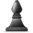 Black Chess Bishop on Samsung TouchWiz 5.1