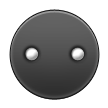 Black Circle with Two White Dots on Samsung TouchWiz 5.1