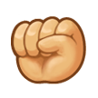 Raised Fist on Samsung TouchWiz 5.1