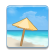 Beach With Umbrella on Samsung Touchwiz 6.0