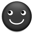 Black Smiling Face on Samsung Touchwiz 6.0