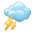 Cloud With Lightning on Samsung Touchwiz 6.0