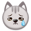Crying Cat Face on Samsung Touchwiz 6.0