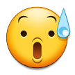 Anxious Face With Sweat on Samsung Touchwiz 6.0