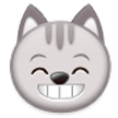 Grinning Cat Face With Smiling Eyes on Samsung Touchwiz 6.0