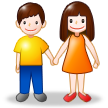 Woman and Man Holding Hands on Samsung Touchwiz 6.0