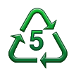 Recycling Symbol for Type-5 Plastics on Samsung Touchwiz 6.0