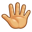 Reversed Raised Hand with Fingers Splayed on Samsung Touchwiz 6.0
