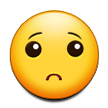 Slightly Frowning Face on Samsung Touchwiz 6.0