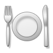 Fork and Knife With Plate on Samsung TouchWiz 7.0