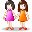 Women Holding Hands on Samsung TouchWiz 7.0
