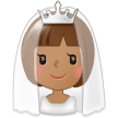 Bride With Veil: Medium Skin Tone on Samsung TouchWiz 7.1