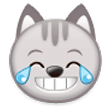 Cat Face With Tears of Joy on Samsung TouchWiz 7.1