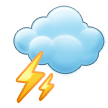 Cloud with Lightning on Samsung TouchWiz 7.1