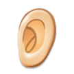Ear: Light Skin Tone on Samsung TouchWiz 7.1