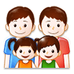 Family: Man, Man, Girl, Boy on Samsung TouchWiz 7.1