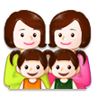 Family: Woman, Woman, Girl, Girl on Samsung TouchWiz 7.1