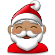 Santa Claus: Medium Skin Tone on Samsung TouchWiz 7.1