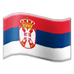 Flag: Serbia on Samsung TouchWiz 7.1