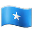 Flag: Somalia on Samsung TouchWiz 7.1