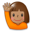 Person Raising Hand: Medium Skin Tone on Samsung TouchWiz 7.1