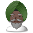 Person Wearing Turban: Dark Skin Tone on Samsung TouchWiz 7.1