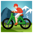Person Mountain Biking: Light Skin Tone on Samsung TouchWiz 7.1