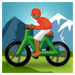 Person Mountain Biking: Medium-Dark Skin Tone on Samsung TouchWiz 7.1