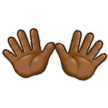 Open Hands: Medium-Dark Skin Tone on Samsung TouchWiz 7.1