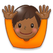 Raising Hands: Medium-Dark Skin Tone on Samsung TouchWiz 7.1