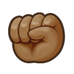 Raised Fist: Medium-Dark Skin Tone on Samsung TouchWiz 7.1