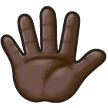 Hand With Fingers Splayed: Dark Skin Tone on Samsung TouchWiz 7.1