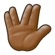 Vulcan Salute: Medium-Dark Skin Tone on Samsung TouchWiz 7.1