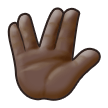 Vulcan Salute: Dark Skin Tone on Samsung TouchWiz 7.1