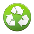 Recycled Paper Symbol on Samsung TouchWiz 7.1