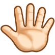 Reversed Raised Hand with Fingers Splayed + Emoji Modifier Fitzpatrick Type-1-2 on Samsung TouchWiz 7.1