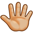 Reversed Raised Hand with Fingers Splayed + Emoji Modifier Fitzpatrick Type-3 on Samsung TouchWiz 7.1