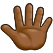 Reversed Raised Hand with Fingers Splayed + Emoji Modifier Fitzpatrick Type-5 on Samsung TouchWiz 7.1