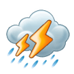 Cloud With Lightning and Rain on Samsung TouchWiz 7.1