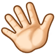 Waving Hand: Light Skin Tone on Samsung TouchWiz 7.1